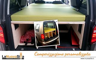 Camperizzazione furone, van e auto personalizzata