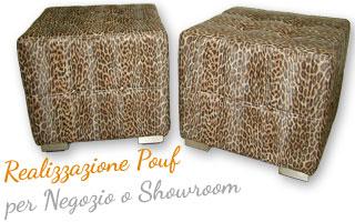 Produzione Pouf componibili in pelle per Negozi e Showroom