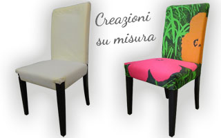 Esempio di realizzazione della seduta e dello schienale di una sedia in legno e tessuto
