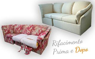 Rifacimento e rivestimento di cuscini da divano