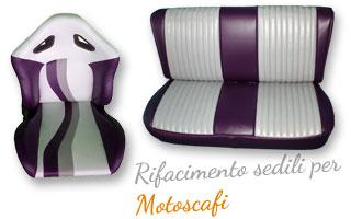 Fotografia di un esempio di realizzazione di sedili per Motoscafi.